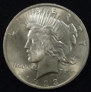 US 1923 Peace Dollar Obverse