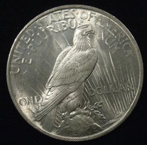 US 1923 Peace Dollar Reverse