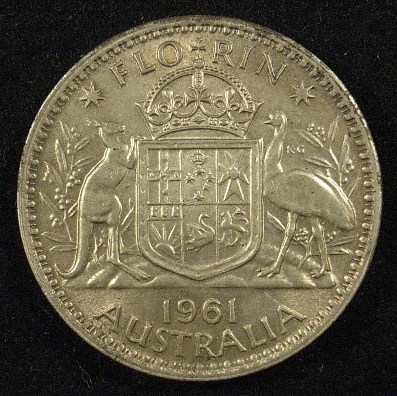 1961 Australian Florin Reverse