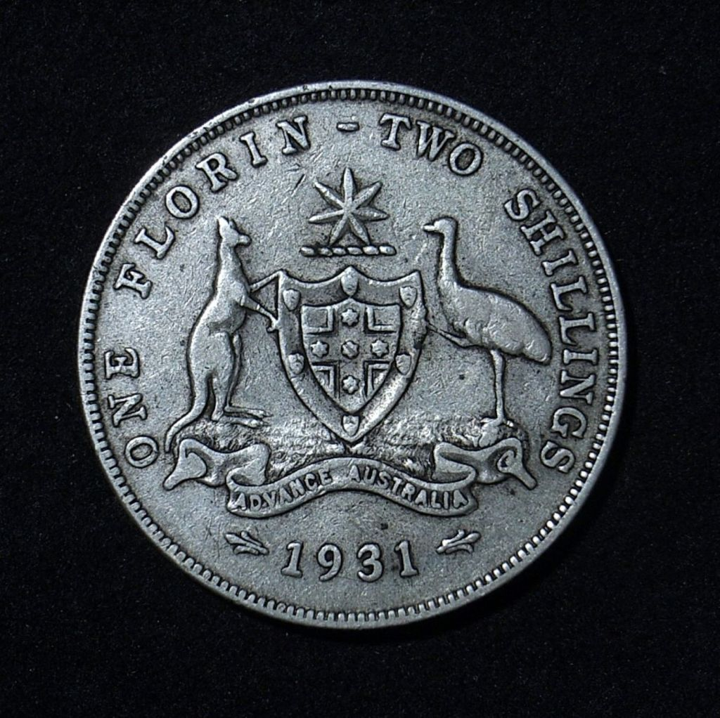 1931 Florin reverse in F