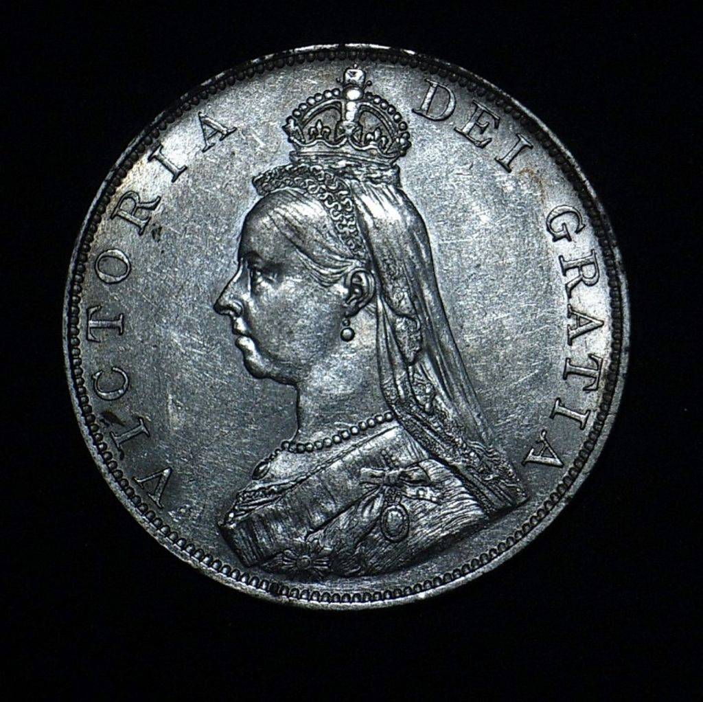 UK 1887 Double Florin obv