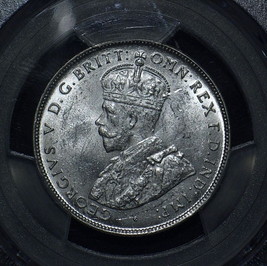 1927 Florin obverse in Unc MS 62