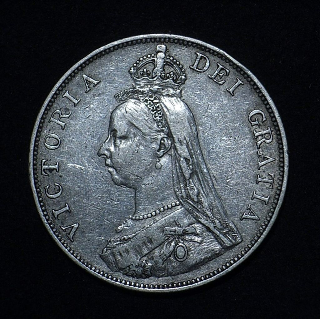 UK 1888 Double Florin obv