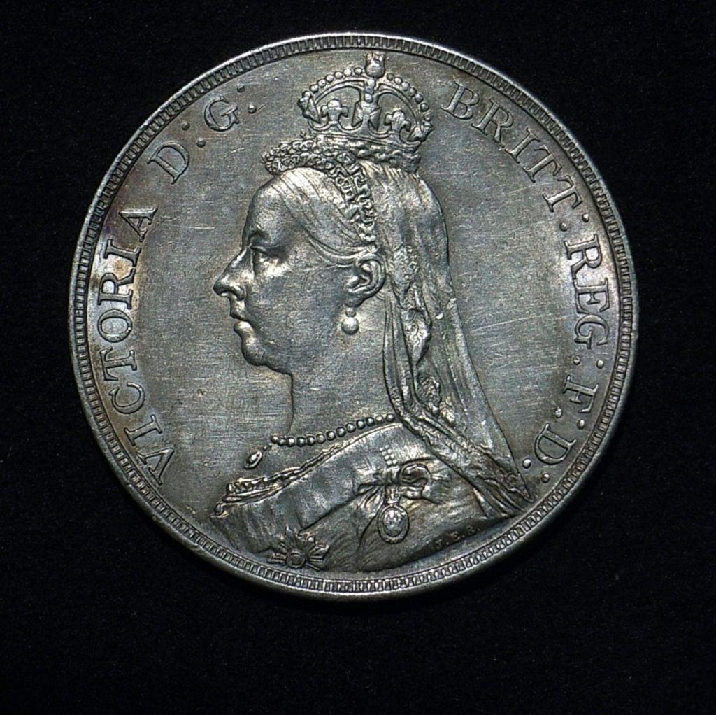 UK Crown QV 1890 obv