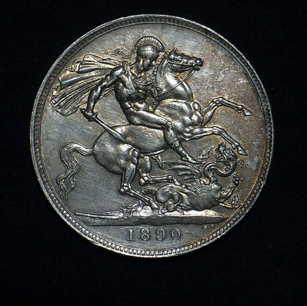 UK Crown QV 1890 rev