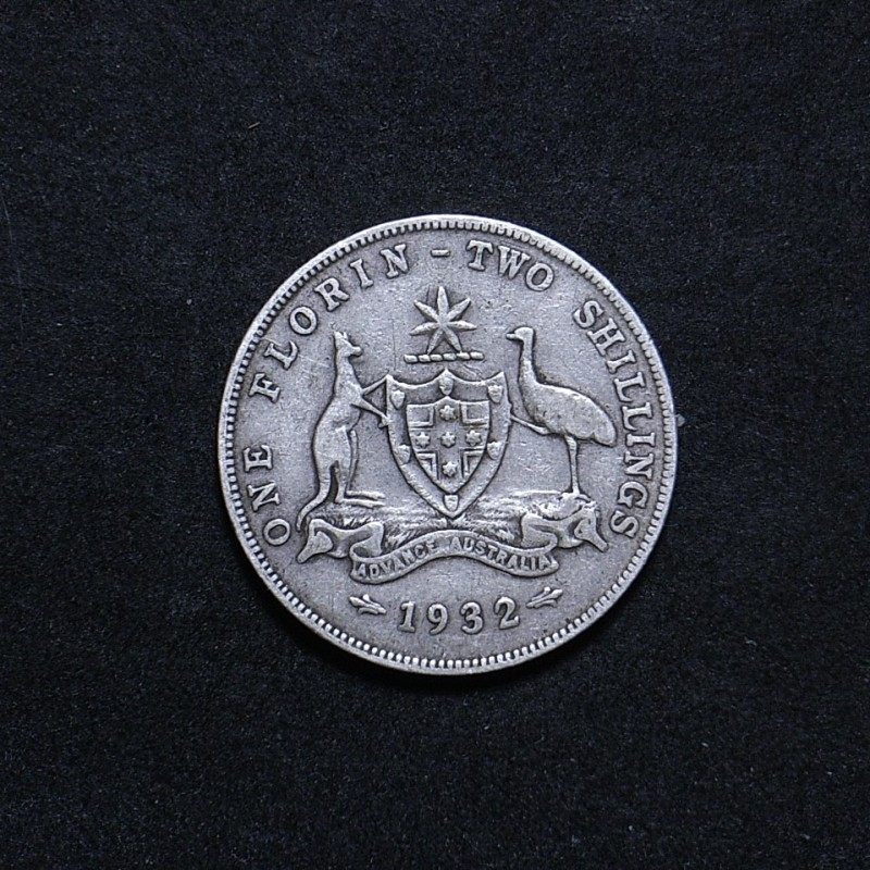 Aussie 1932 florin reverse showing overall appearance