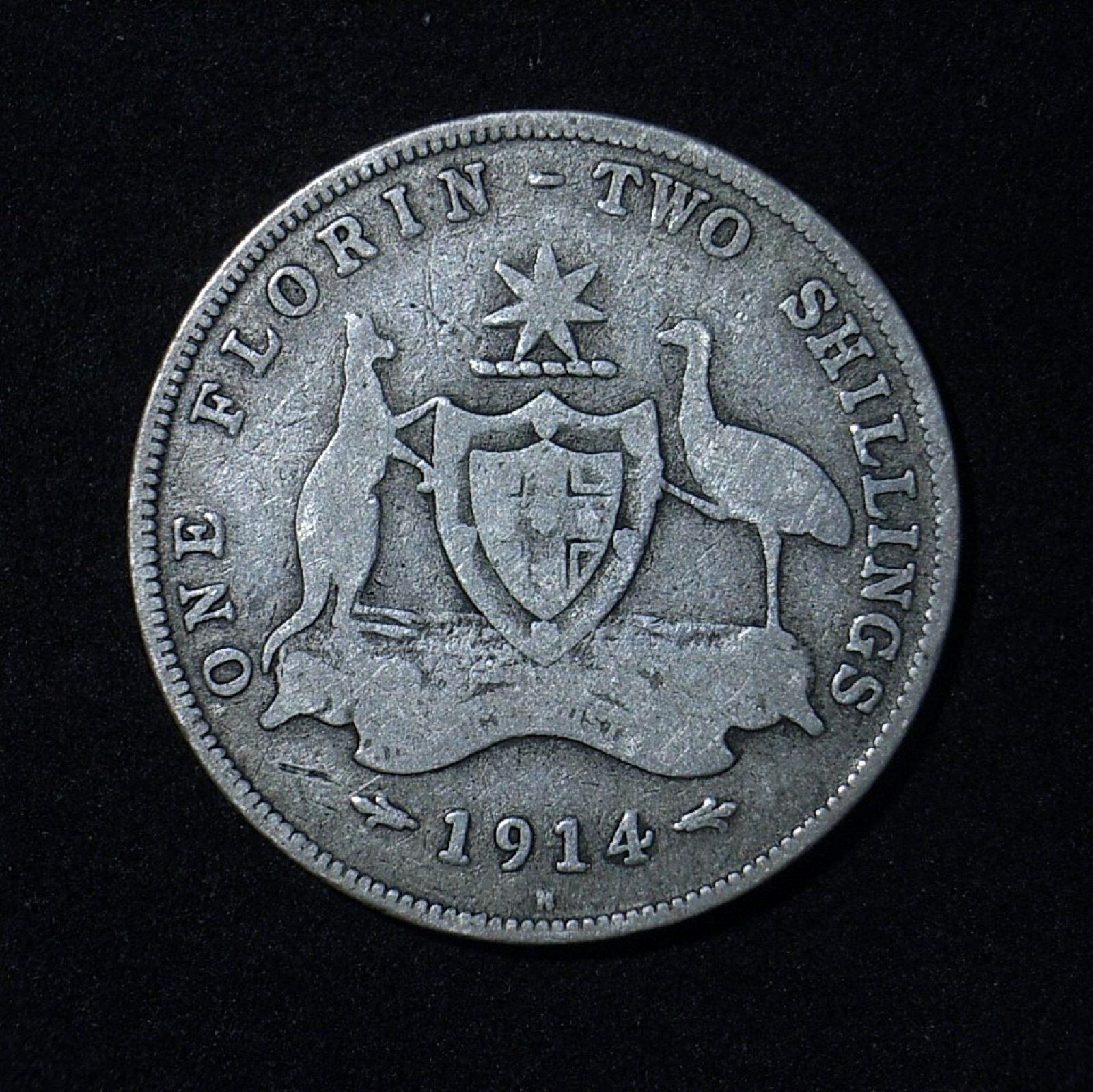 aus-florin-1914h-rev-1-vg