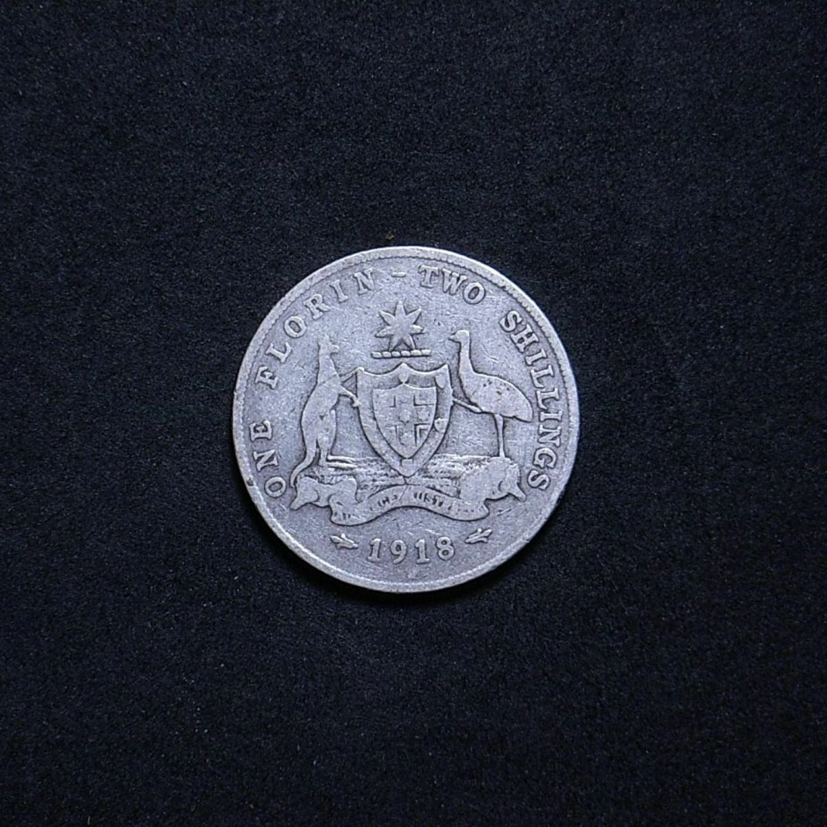 Aussie 1918M reverse showing the extent of wear on the coin