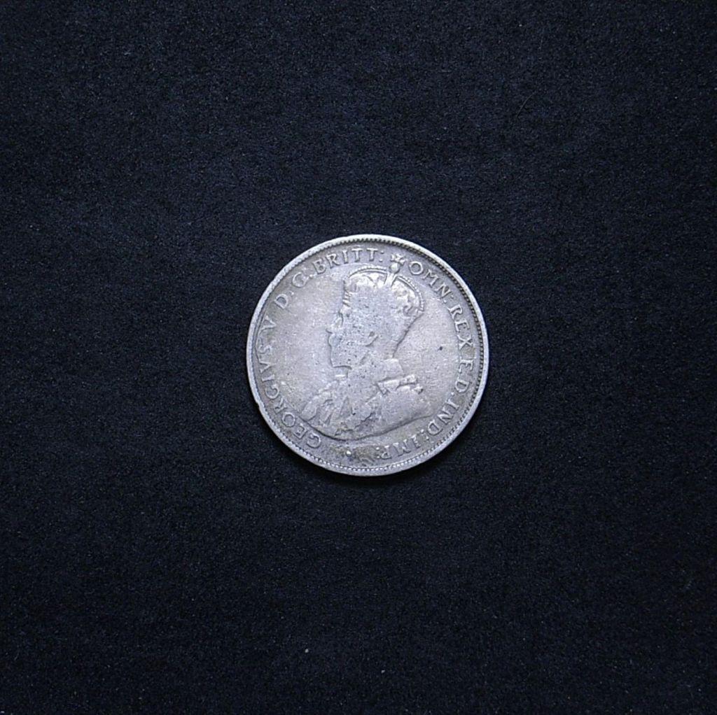 Aussie KGV predecimal florin obverse 1934