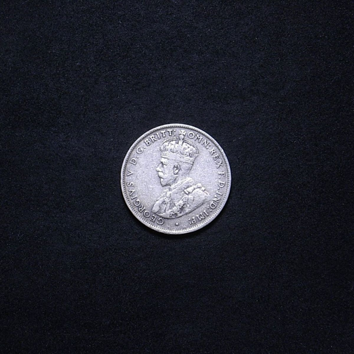 Aussie 1927 florin obverse showing overall appearance of the coin