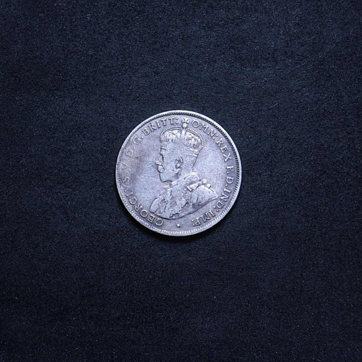 1933 florin obverse showing the coin's lustre and toning