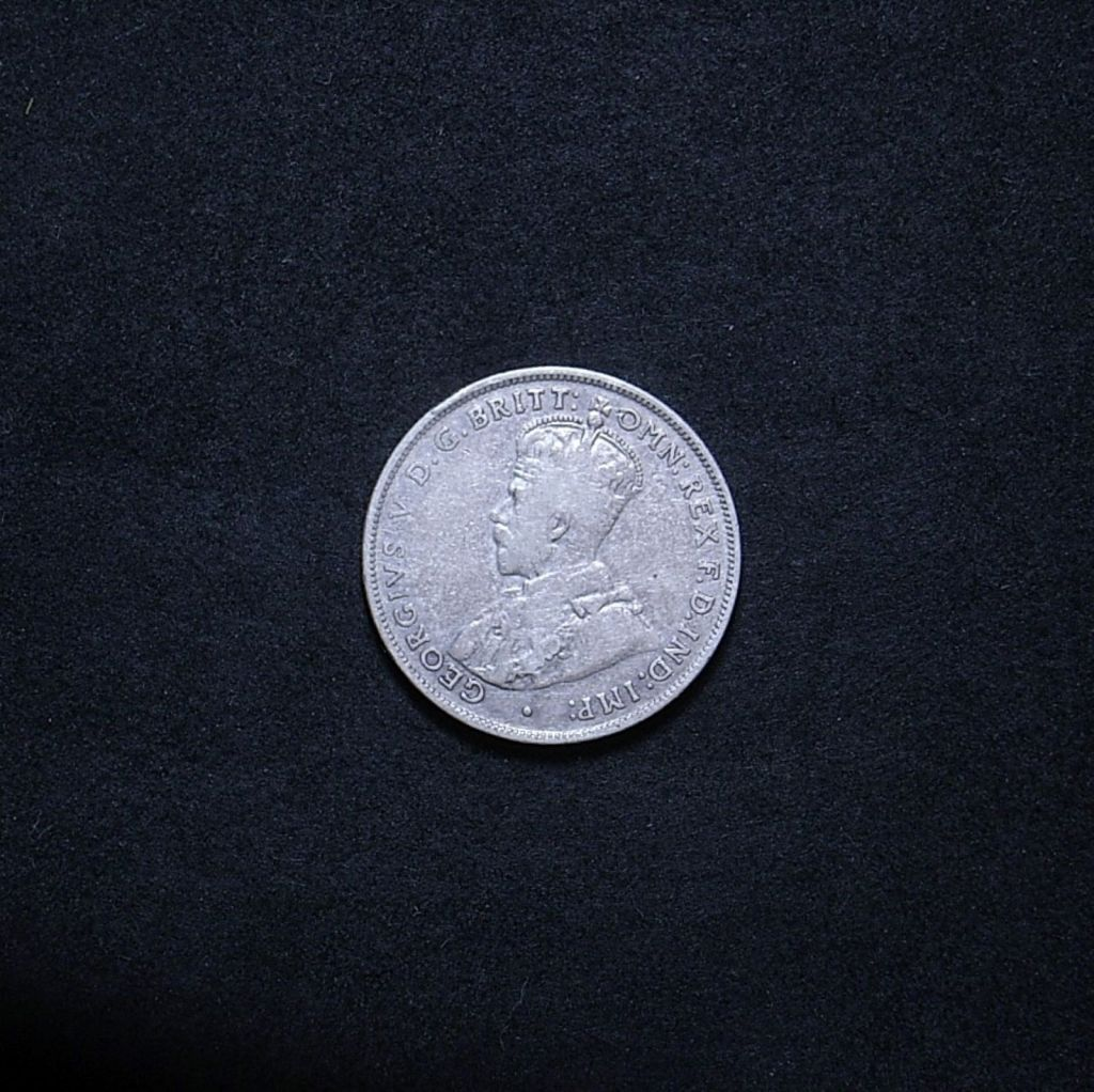 obverse of Aussie florin 1936 showing overall appearance