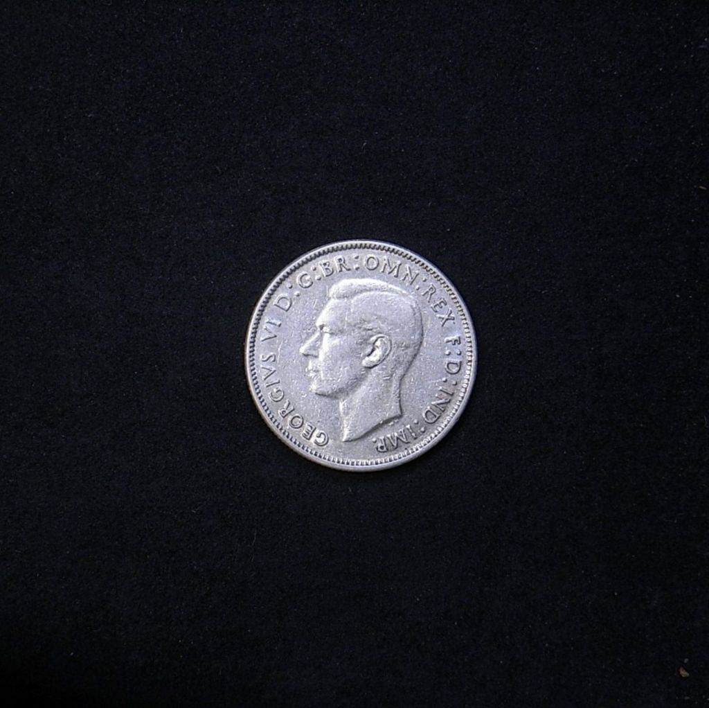 obverse Aussie florin 1941 showing overall appearance