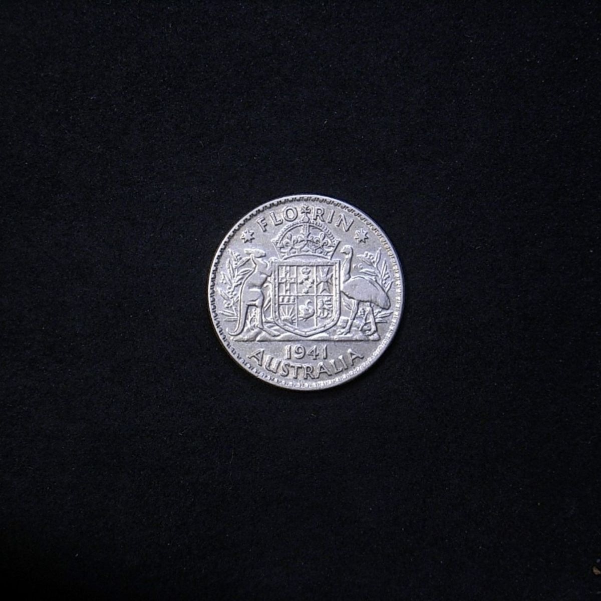 reverse Aussie florin 1941 showing overall appearance