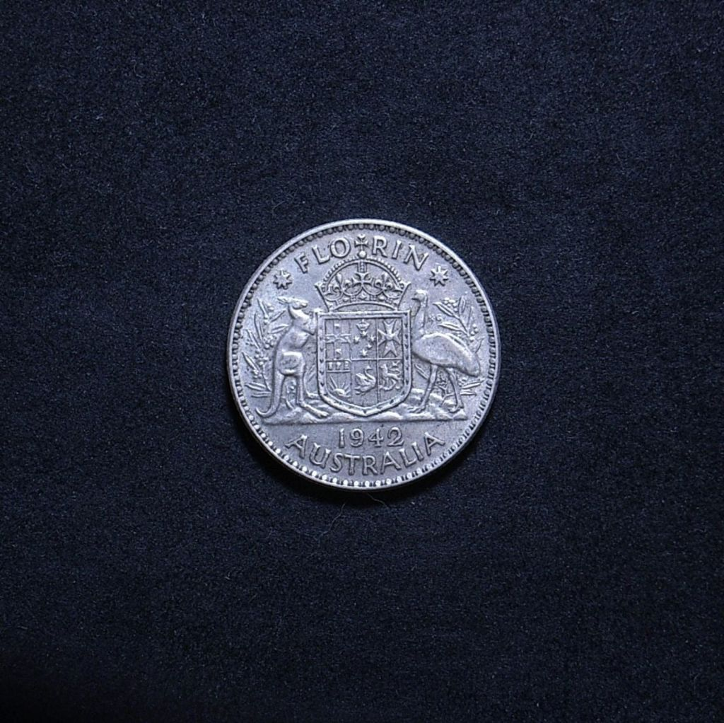 Aus Florin 1942 reverse showing overall appearance