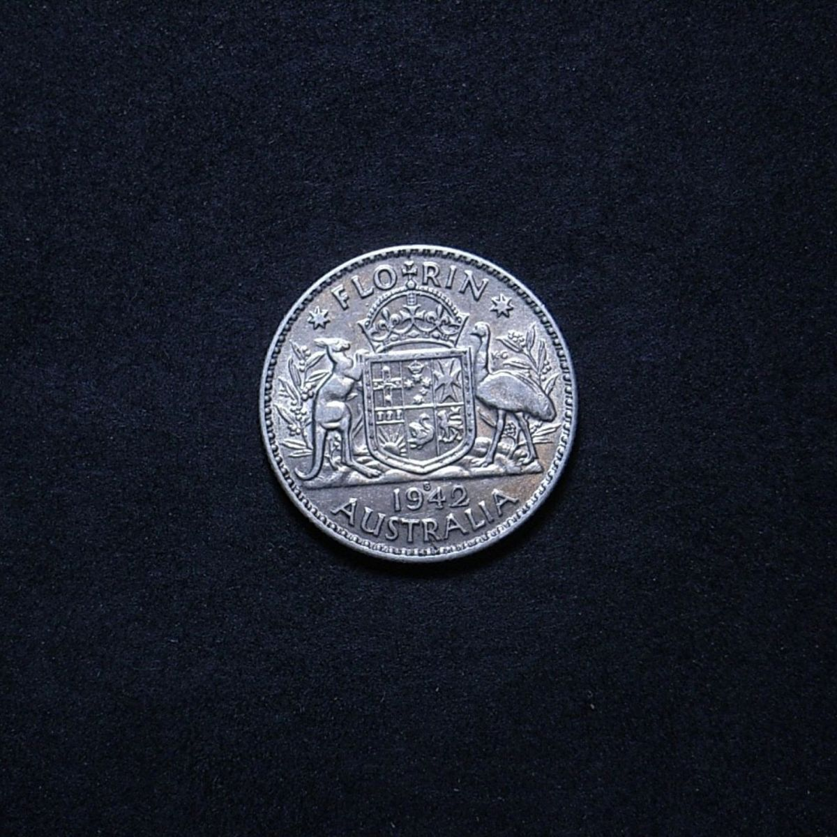 Aus Florin 1942s reverse showing overall appearance