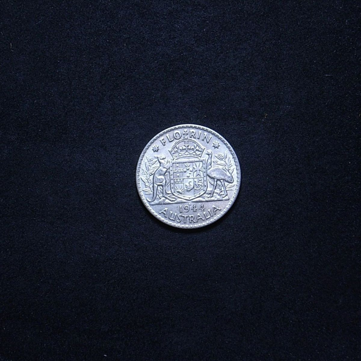 Aus Florin 1944s reverse showing overall appearance