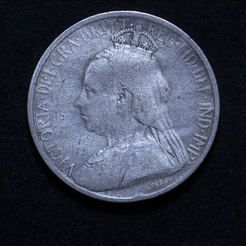 Cypriot 1901 9 piastres obverse close up showing the coin's detail