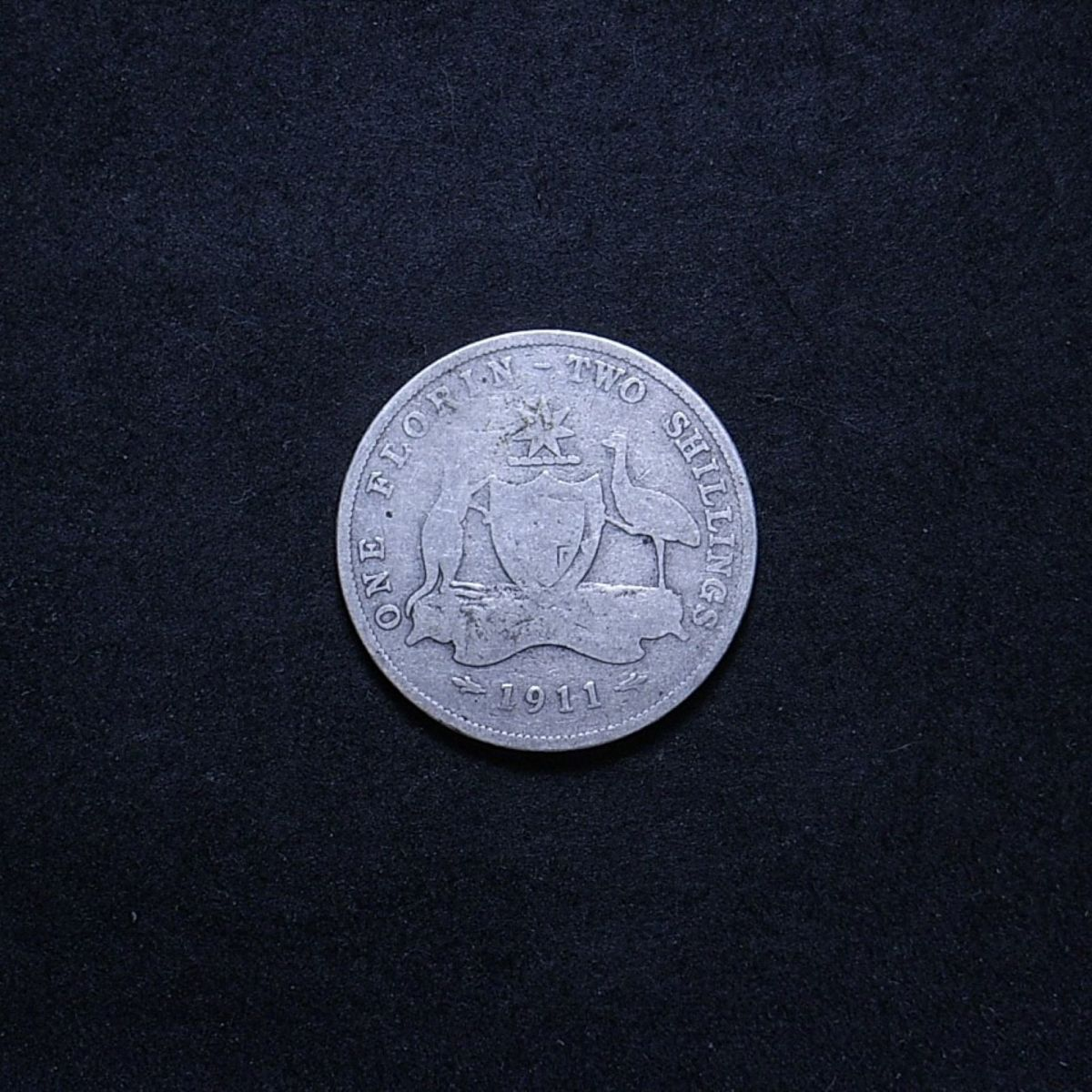 Aus Florin 1911 reverse showing overall appearance