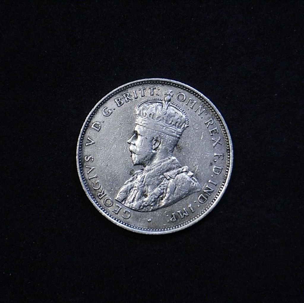 Aus Florin 1912 obverse showing overall appearance