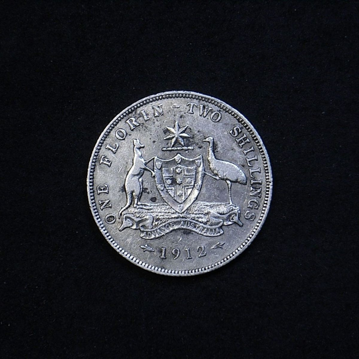 Aus Florin 1912 reverse showing overall appearance