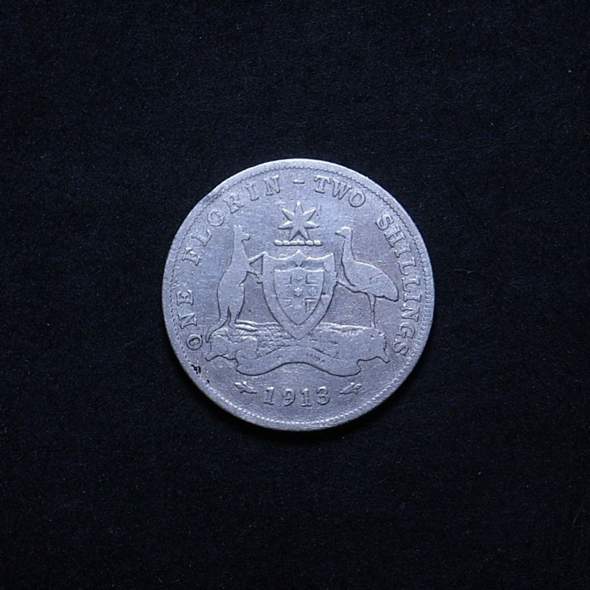 Aus Florin 1913 reverse showing overall appearance