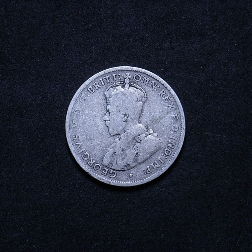 Aus Florin 1914 obverse showing overall appearance