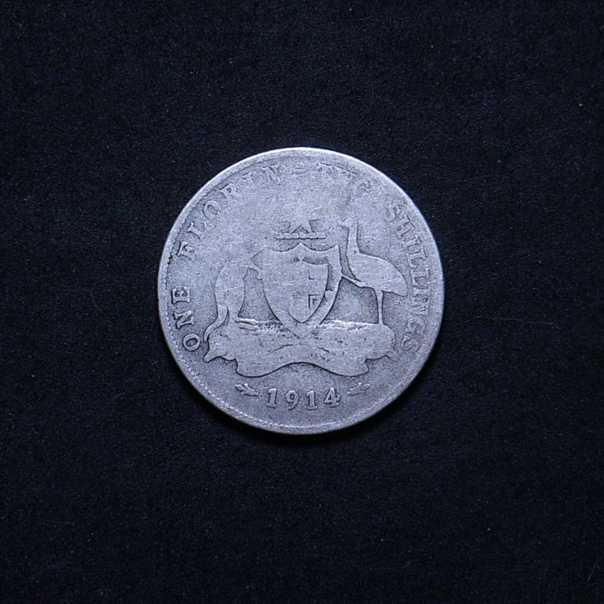Aus Florin 1914 reverse showing overall appearance