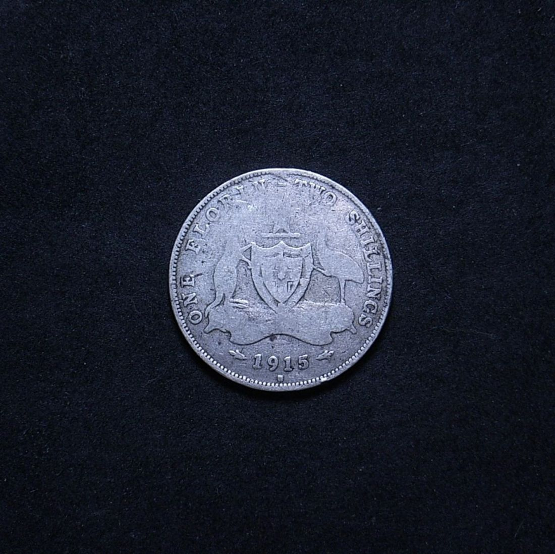 Aus Florin 1915H reverse showing overall appearance