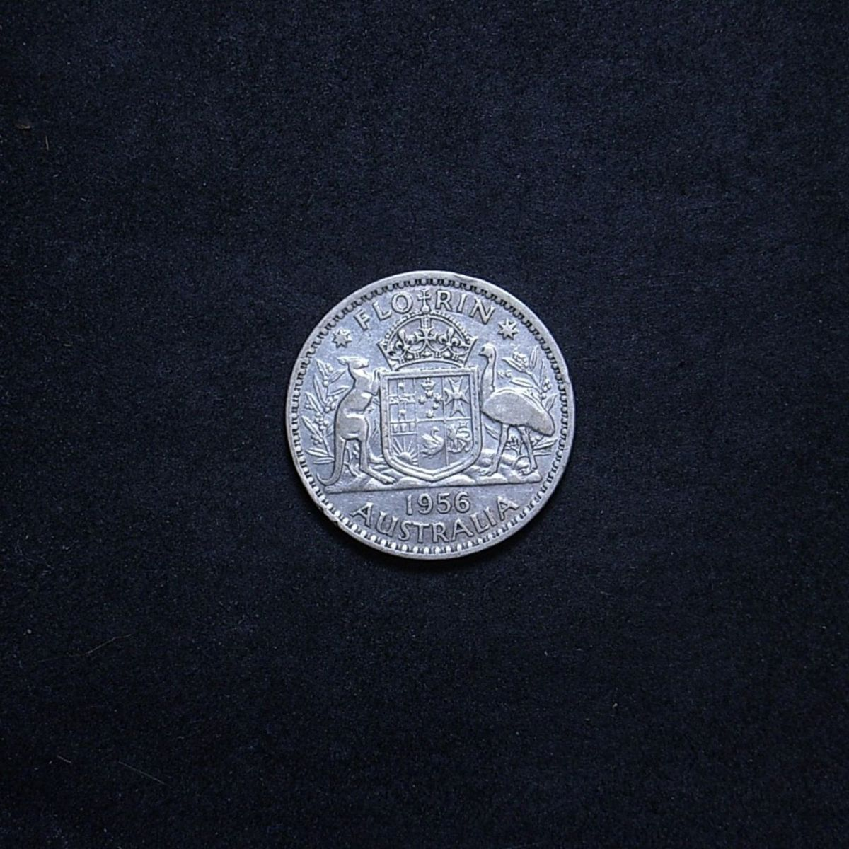 Aus Florin 1956 reverse showing overall appearance