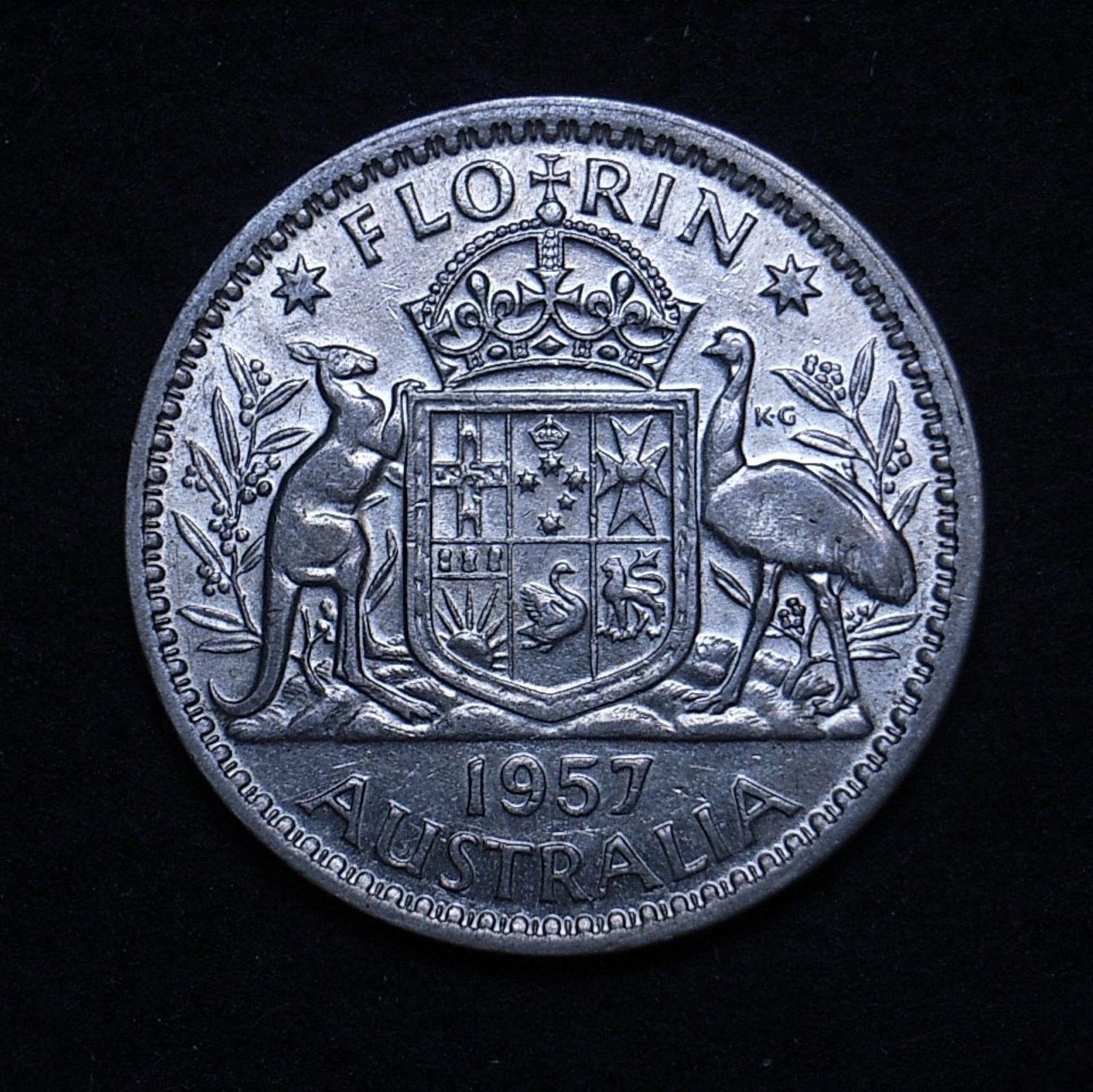 Aus Florin 1957 rev 1