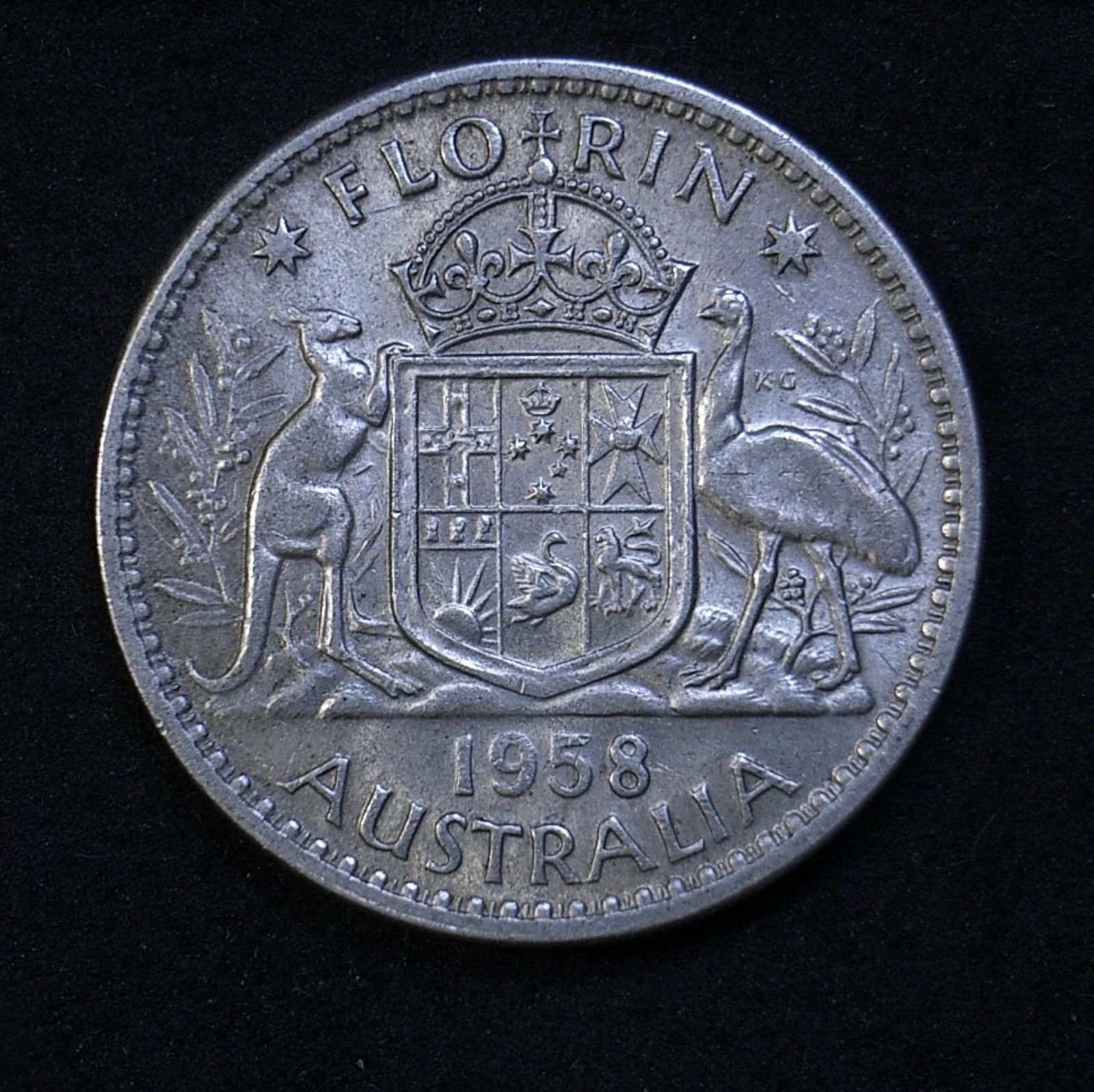 Aus Florin 1958 rev 1