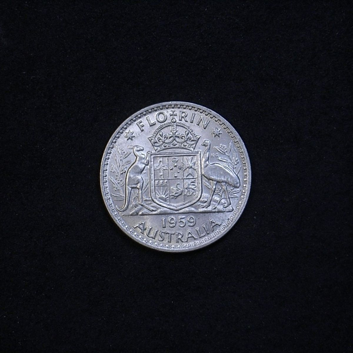 Aus Florin 1959 reverse showing lustre and overall appearance