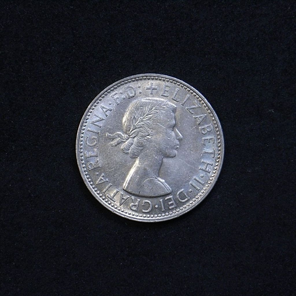 Aus Florin 1961 obverse showing lustre and overall appearance