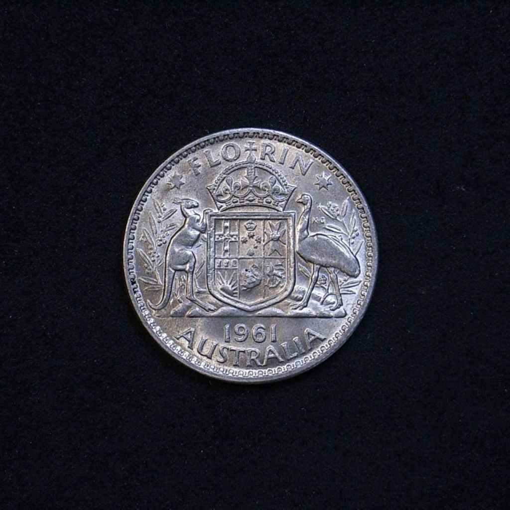 Aus Florin 1961 reverse showing lustre and overall appearance