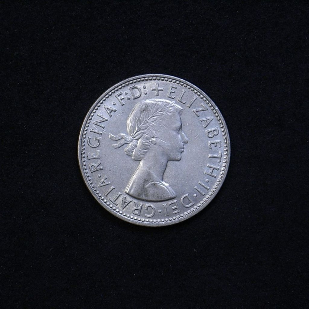Aus Florin 1962 obverse showing overall appearance