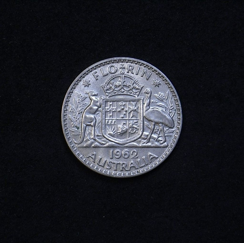 Aus Florin 1962 reverse showing overall appearance