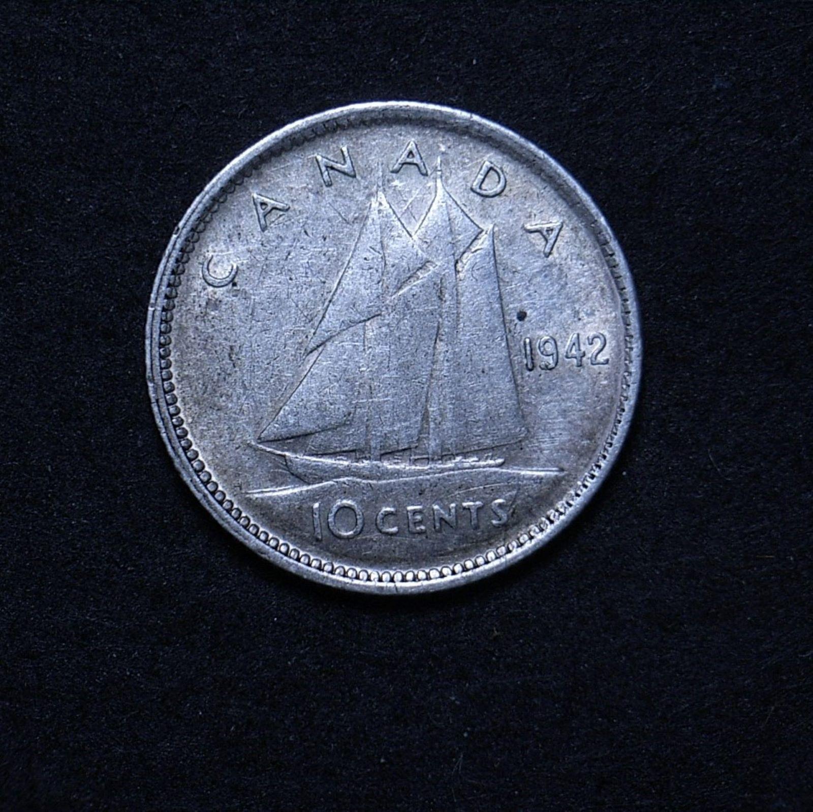 Canada 10 cents 1942 rev 1