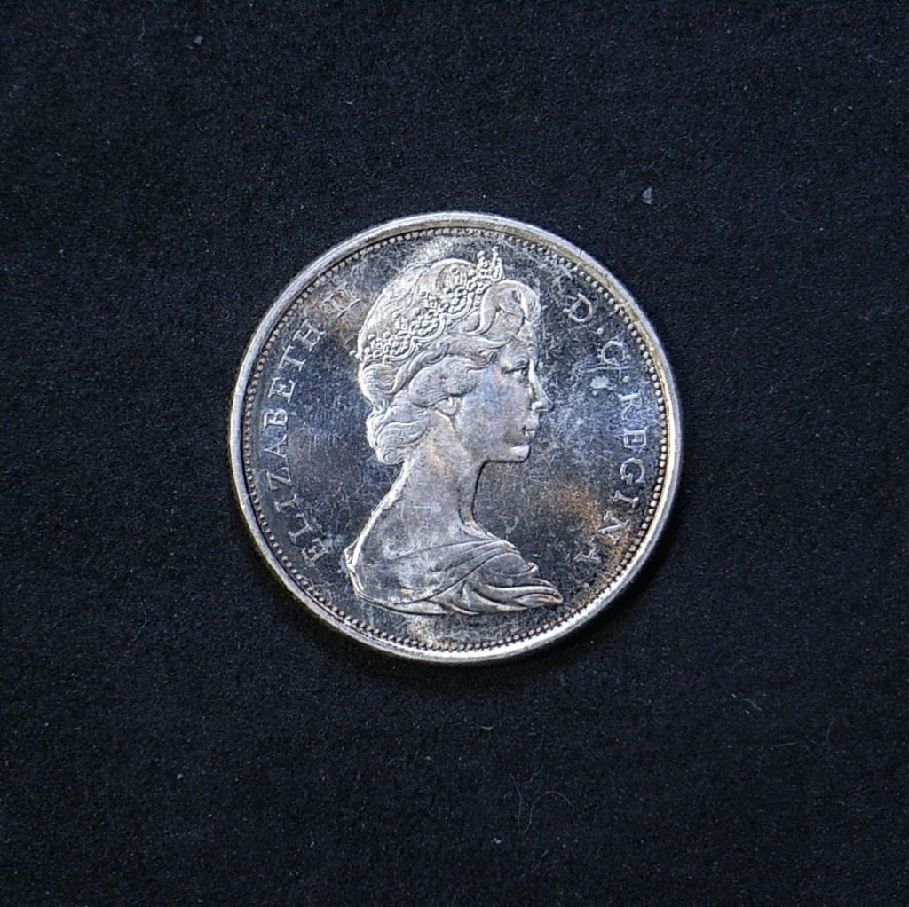 Canada 50 cents 1967 obverse showing overall appearance and lustre