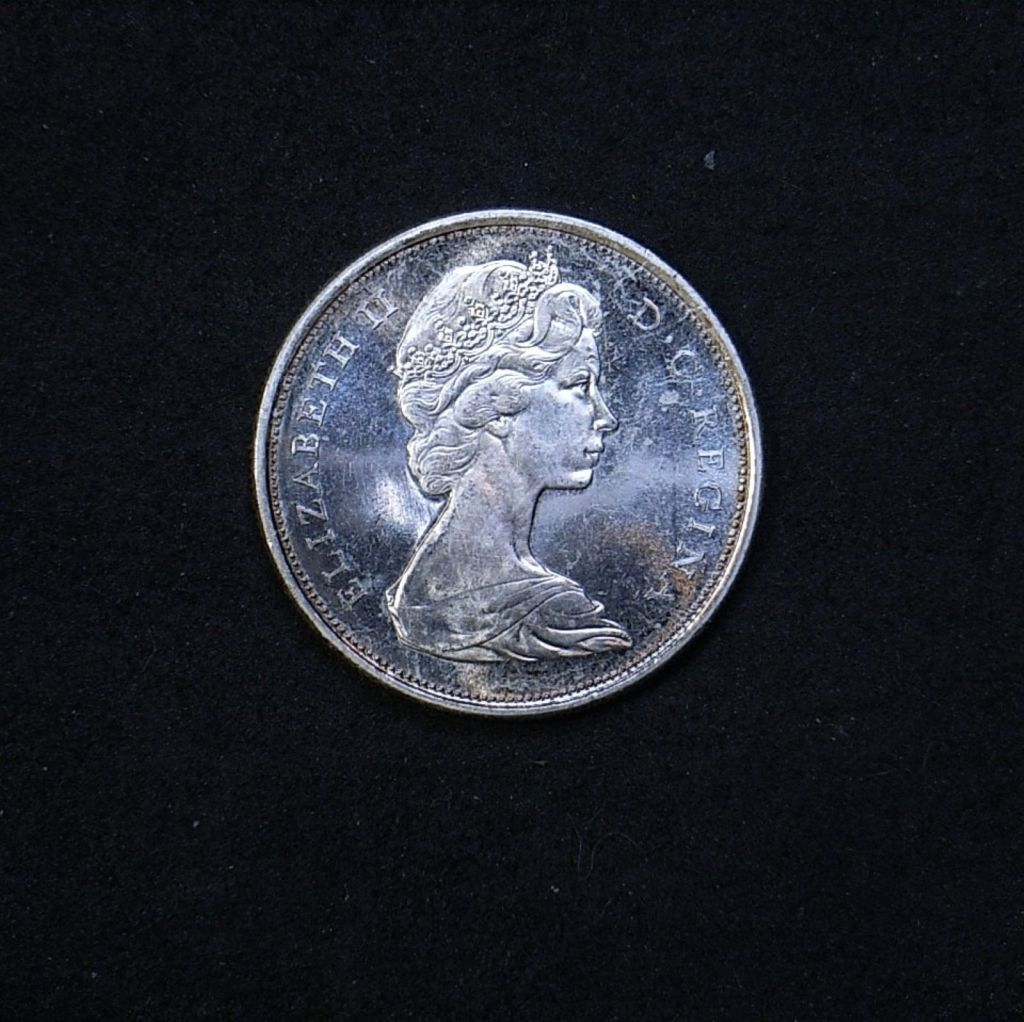 Canada 50 cents 1967 obverse showing lustre
