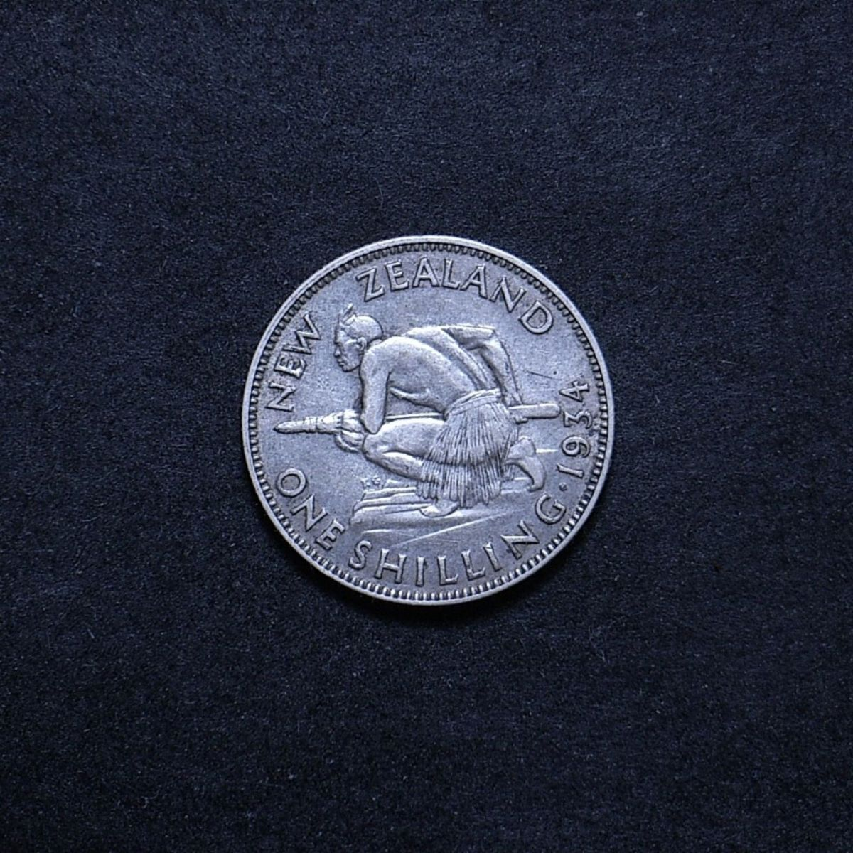 NZ Shilling 1934 reverse showing overall appearance