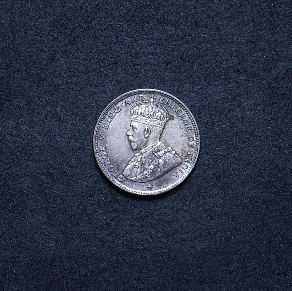 Straits Settlements 10 cents 1919 obverse showing overall appearance