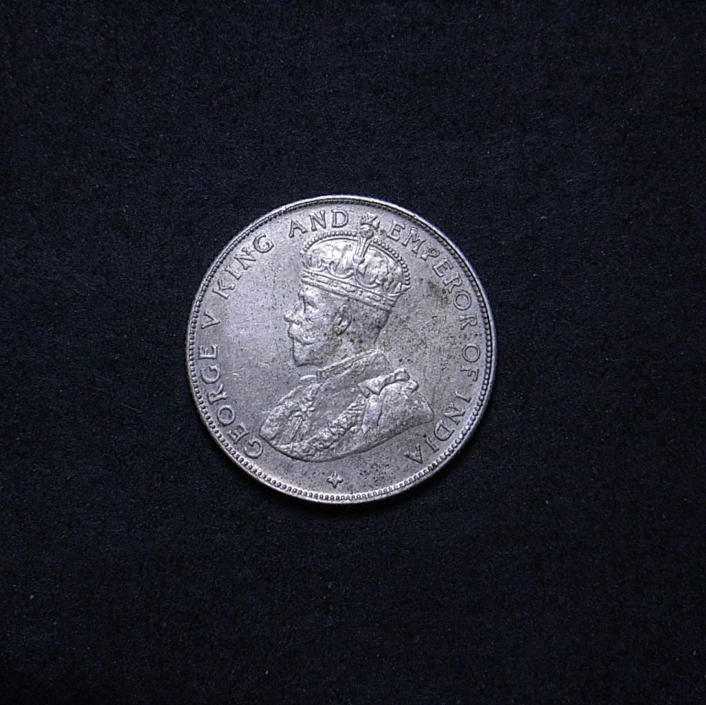 Straits Settlements 50 cents 1921 obverse showing overall appearance