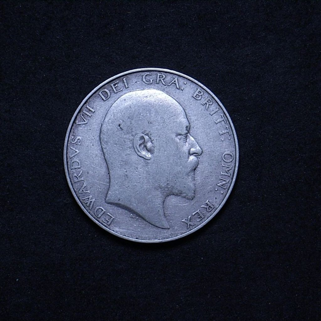 1UK Half Crown 1907 obverse showing overall appearance