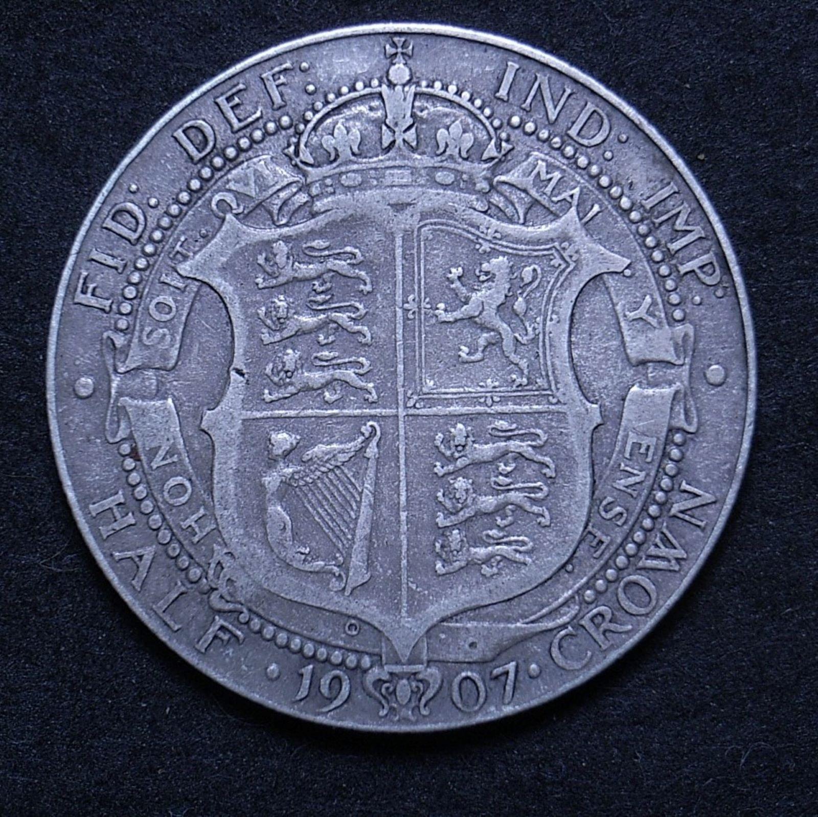 UK Half Crown 1907 rev 1