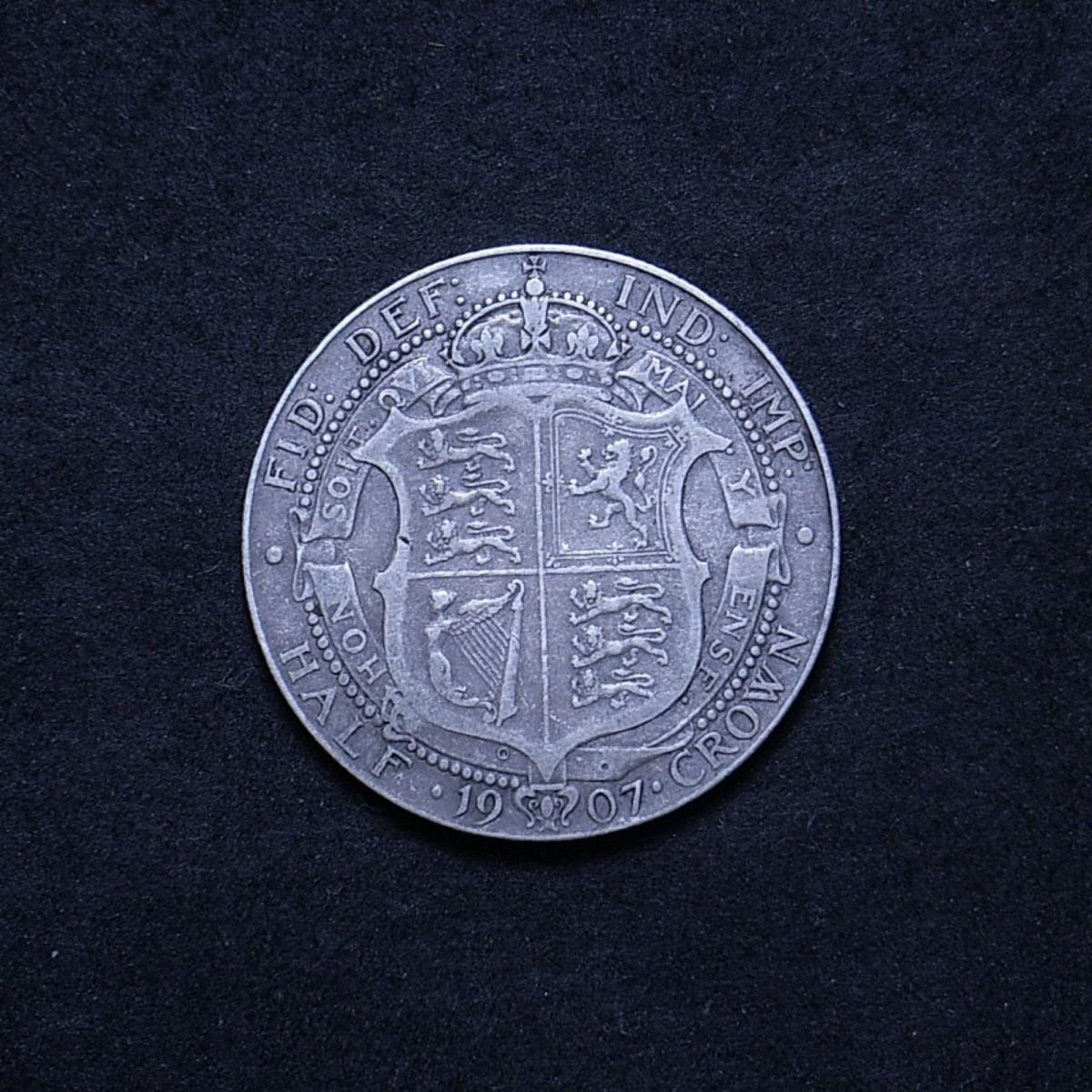 UK Half Crown 1907 reverse showing overall appearance