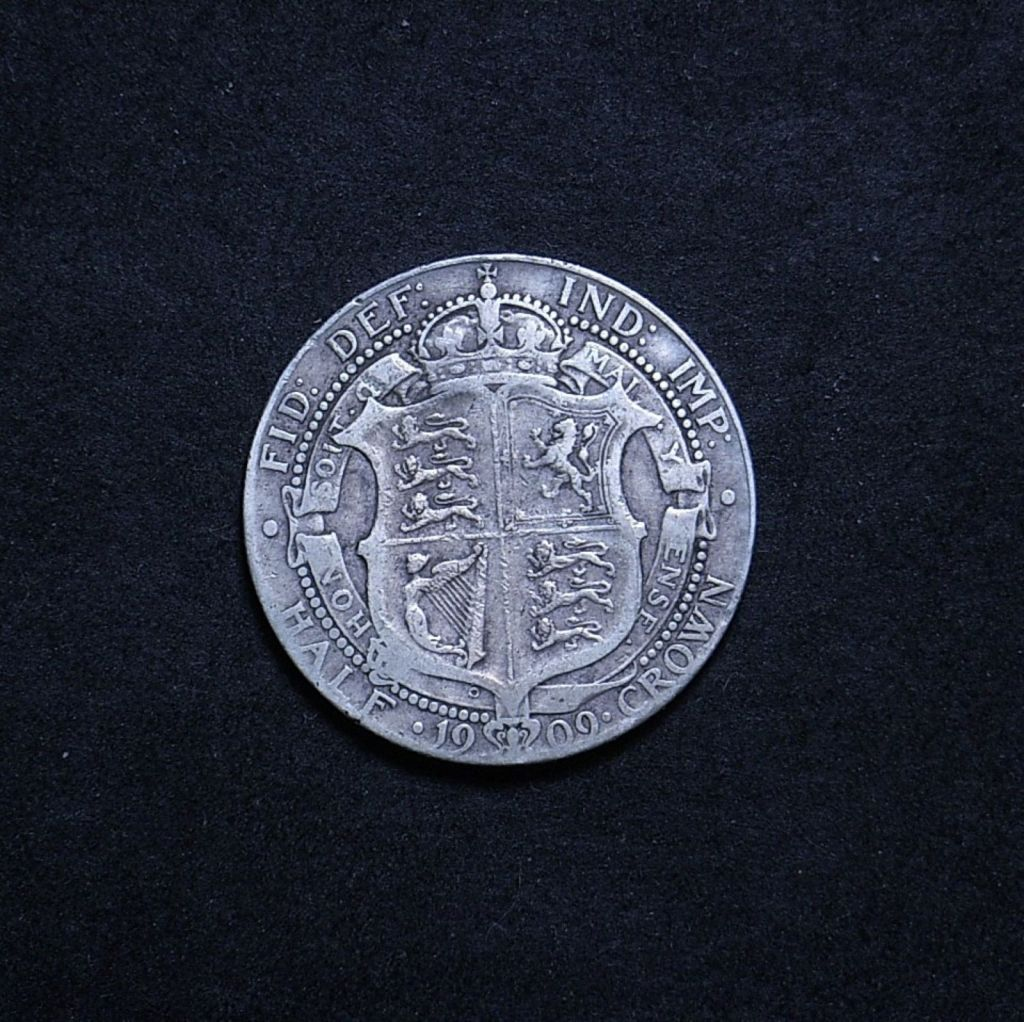 UK Half Crown 1909 reverse showing overall appearance