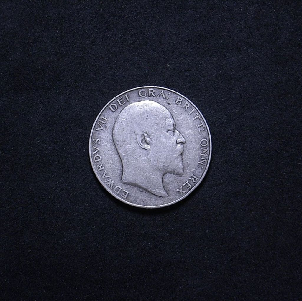 UK Half Crown 1910 obverse showing overall appearance