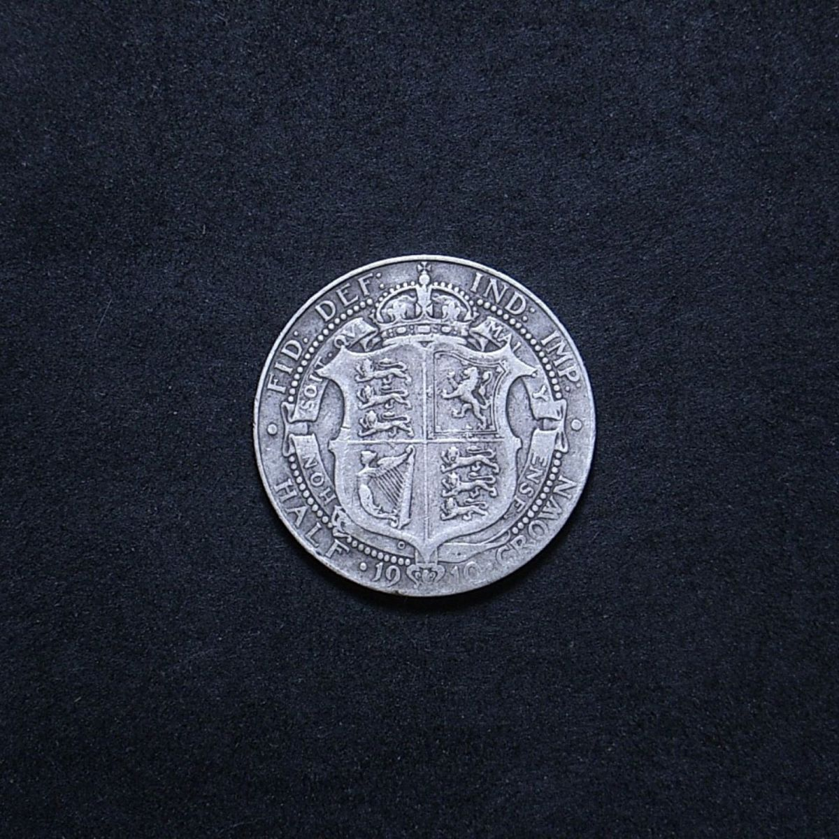 UK Half Crown 1910 reverse showing overall appearance