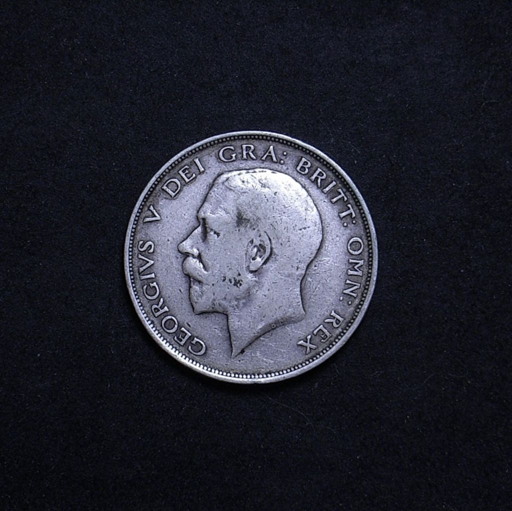 UK Half Crown 1911 obverse showing overall appearance